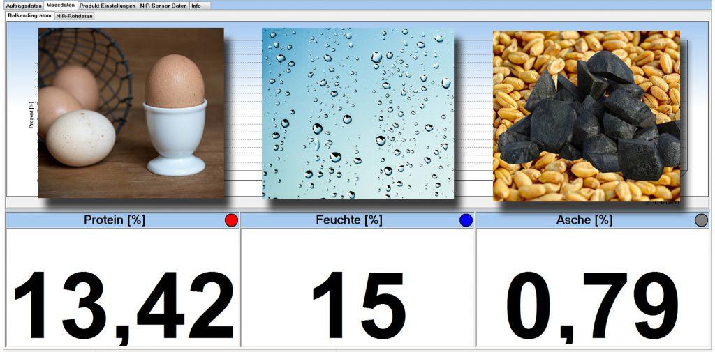 Protein, Feuchte und Asche